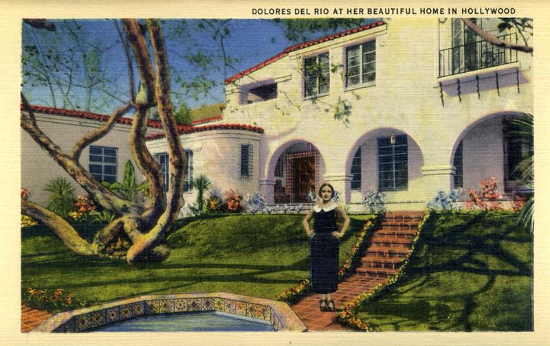 Dolores Del Rio at Home