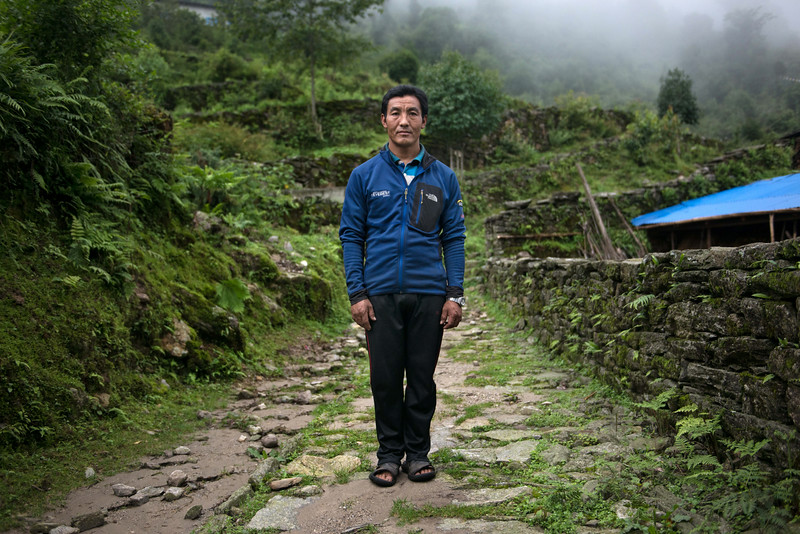 Kaji Sherpa, one of the several Sherpa that survived the avalanche on Everest this spring that killed 16 Sherpa climbers.
