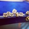 .78-.82ctw Asscher Stud Earrings, in Yellow Gold 24