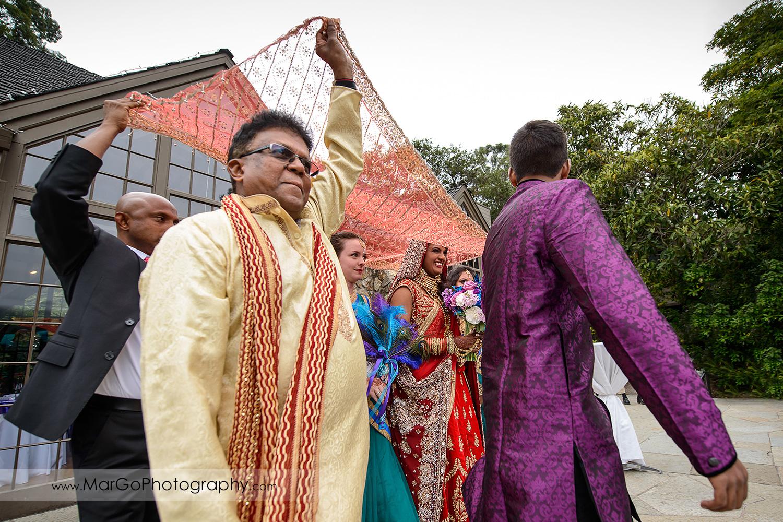 entrance of the indian bride at Brazilian Room - Tilden Regional Park, Berkeley