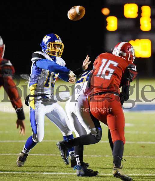 Harold Aughton/Butler Eagle: Union/AC Valley's Luke Bowser attemps a pass in the second quarter.