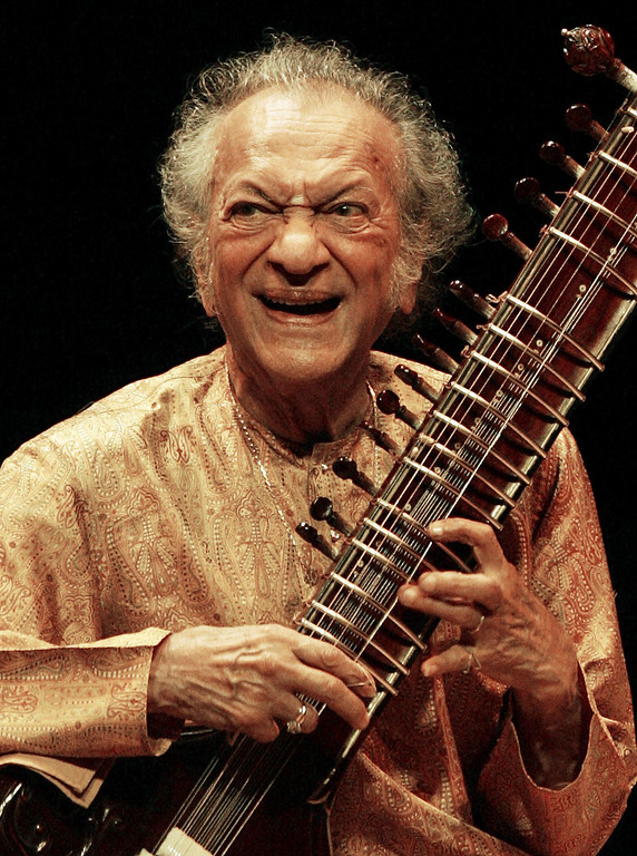 . Indian sitar player Ravi Shankar performs during his concert at the Vienna State Opera House in conjunction with the Jazz Festival Vienna in this July 2, 2005 file photo. Sitarist and composer Shankar has died in San Diego, media reports said on December 12, 2012. Shankar, 92, a three-time Grammy winner with legendary appearances at the 1967 Monterey Pop festival and Woodstock, was admitted to hospital last week after he complained of breathlessness, the Hindu reported. REUTERS/Herwig Prammer/Files