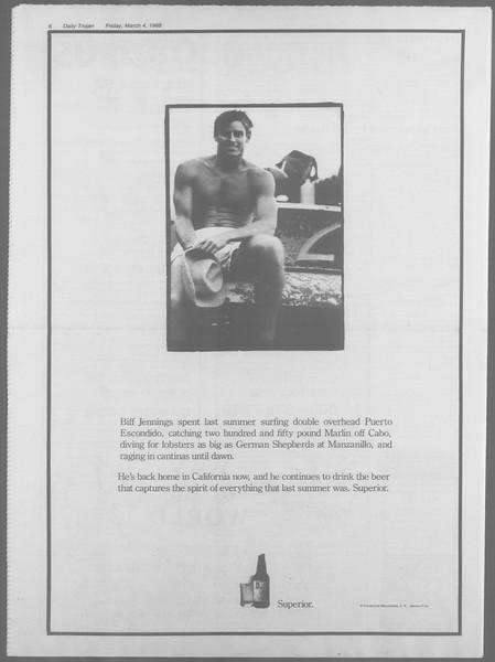 Daily Trojan, Vol. 106, No. 37, March 04, 1988
