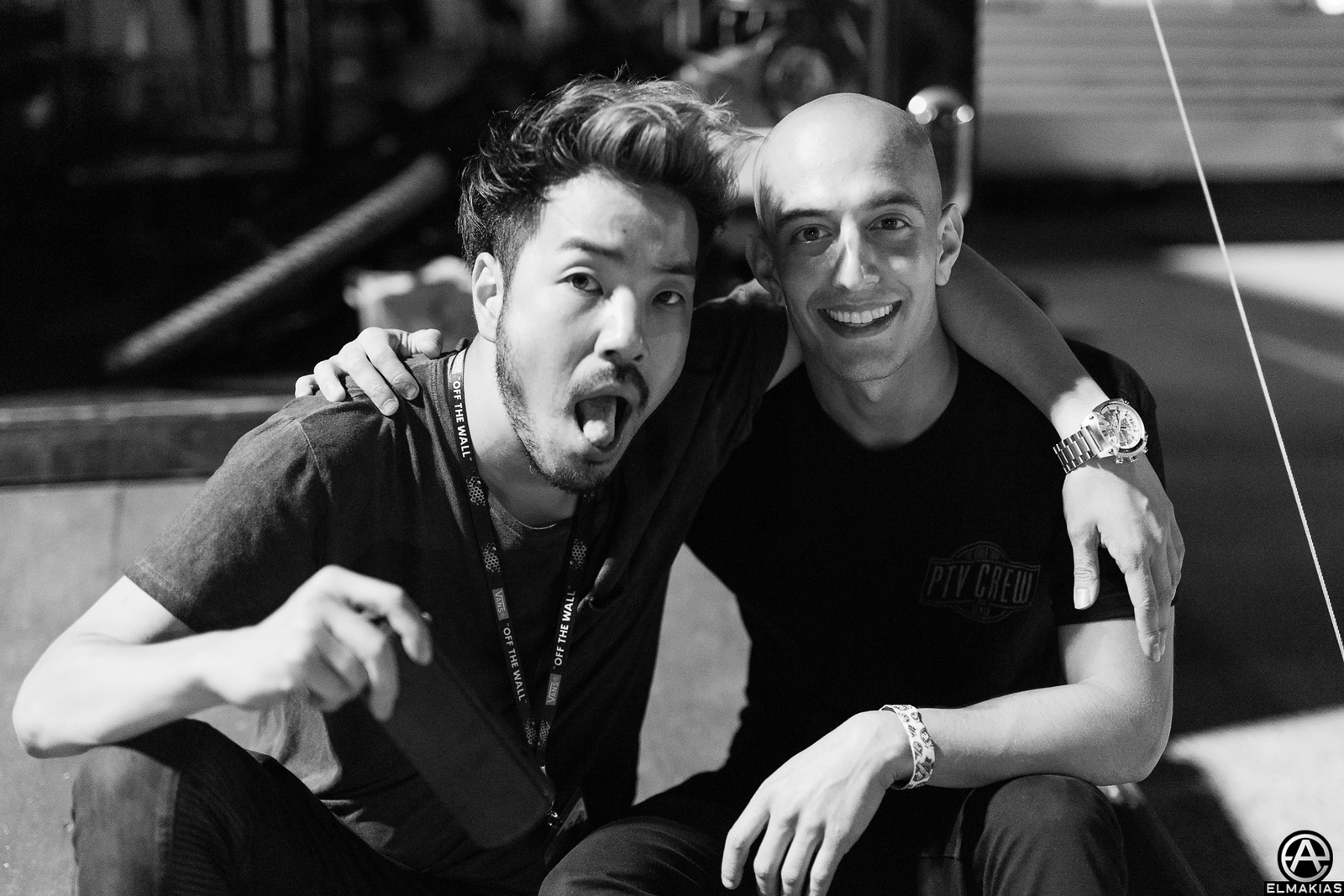 Kenta Koie of Crossfaith & Adam Elmakias at Vans Warped Tour 2015 by Adam Elmakias