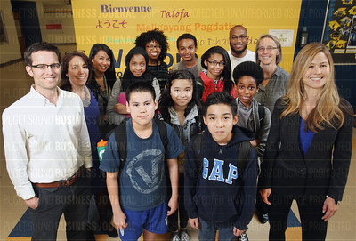 Slalom Consulting helps the Rainier Scholars program at Aki Kurose Middle School in Seattle, Washington as part of the company's corporate citizenship efforts