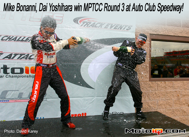 Mike Bonanni, Dai Yoshihara win MPTCC Round 3 at Cal Speedway!