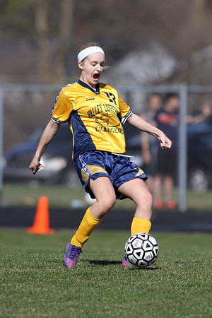 Hemlock at Valley Lutheran girls jv soccer 20130416