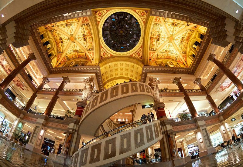 The Caesars Palace  Hotel atrium near the forum shops