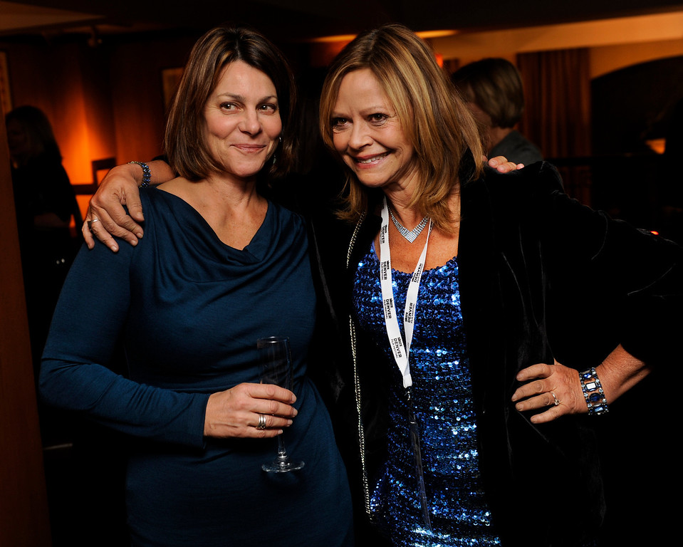 . DENVER, CO. - NOVEMBER 6: Karen Lausa, left, and Joyce Maynard, right, posed together as the 36th Starz Film Festival opened Wednesday night, November 6, 2013 with a showing of the movie Labor Day. Maynard wrote the book on which the film is based. Photo By Karl Gehring/The Denver Post