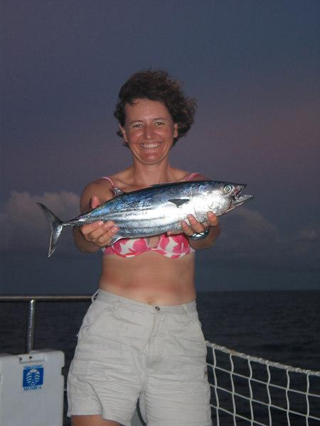 Sailing from Bora Bora to Hawaii -- Vanessa's tuna