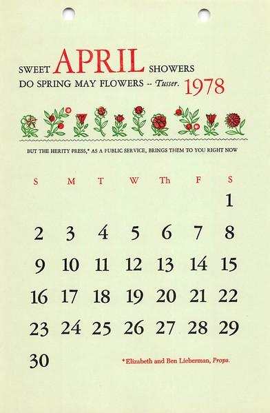 April, 1978, Herity Press