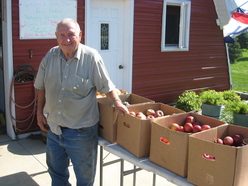 Ron had several varieties of apples