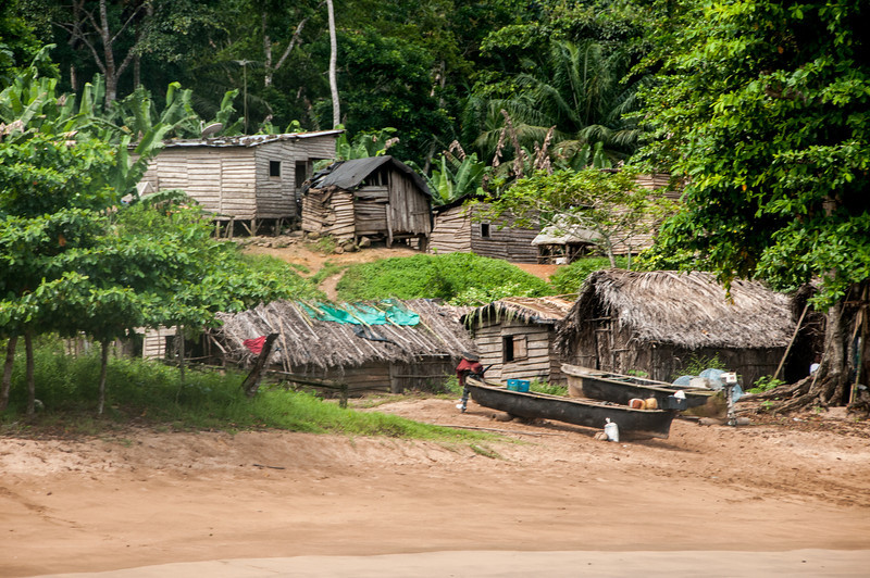 Houses near the beach in Sao Tome, Sao Tome and Principe