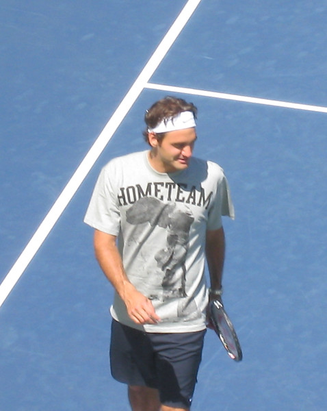Federer - US Open Practice on P1 (102)