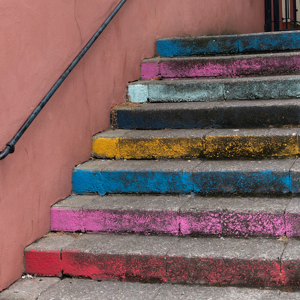 Empty staircase of old town house, Shandon, City of Cork, County Cork, Ireland