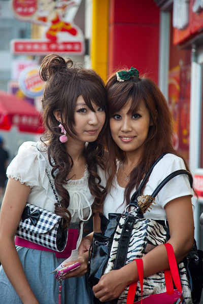 Two young women in Shanghai, China