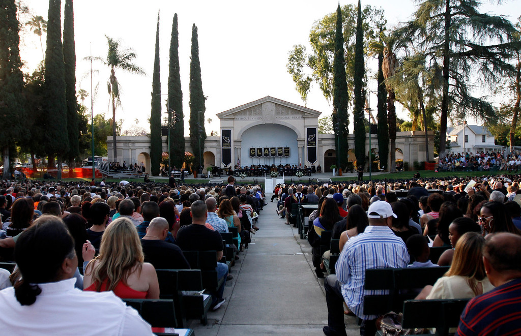 . Citrus Valley High School graduation ceremony on Wednesday, June 11, 2014 at the Redlands Bowl in Redlands, Ca.  (Photo by Micah Escamilla/Redlands Daily Facts)