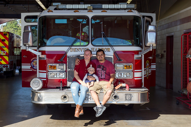Family photo at the Houston Fire Department
