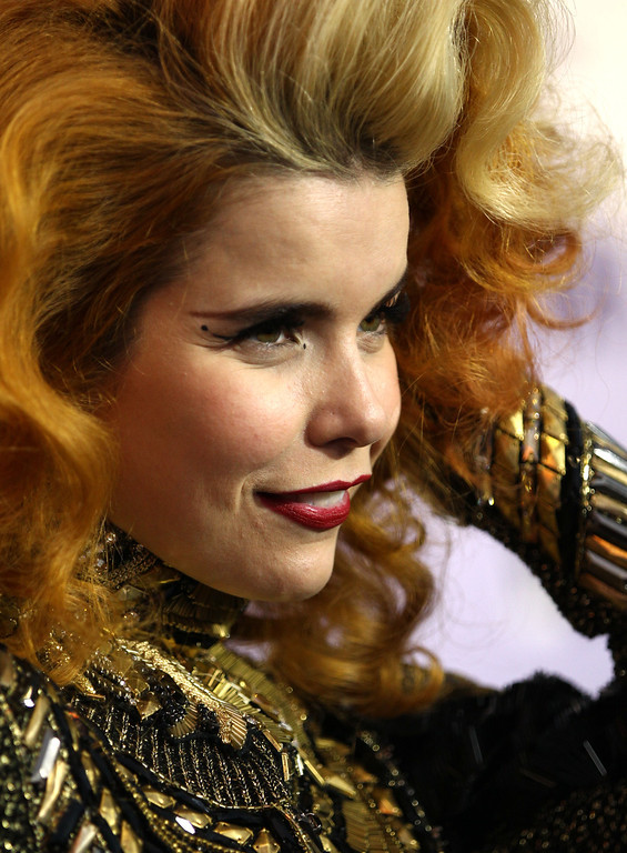 . Paloma Faith arrives at VH1 Divas on Sunday, Dec. 16, 2012, at the Shrine Auditorium in Los Angeles. (Photo by Matt Sayles/Invision/AP)