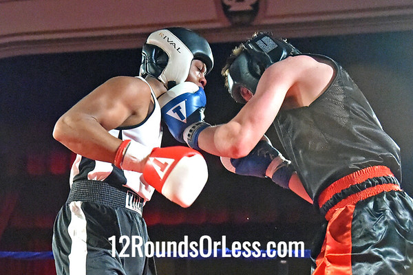 Bout 8 Brian McElrath Jr, Red Gloves, Brian McElrath Sr, Akron -vs- Cody Orahoske, Blue Gloves, Cal Crowell Fitness, Garfield Hts,  152 Lbs, Open