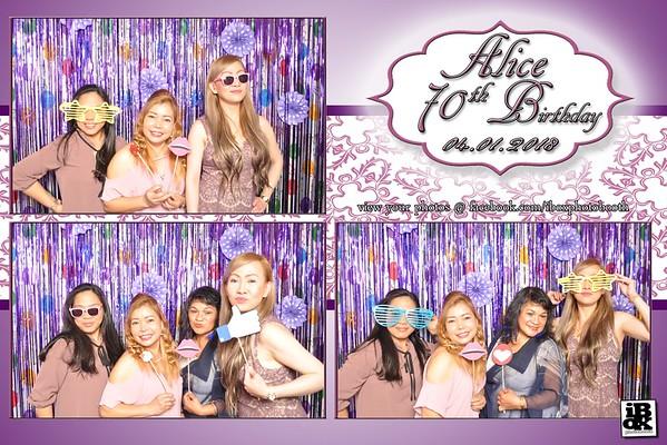 Alice's 70th birthday