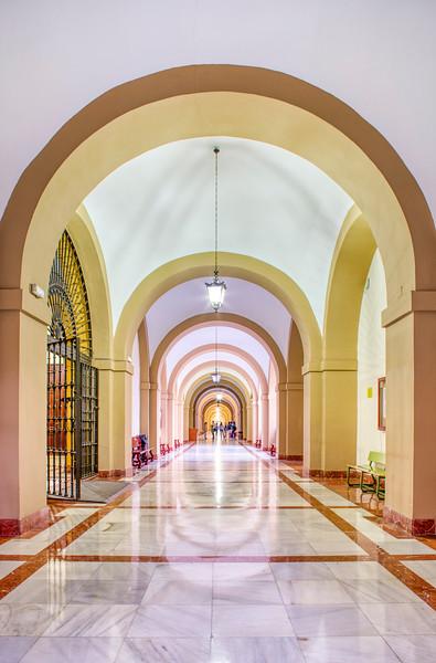 Corridor, University of Seville (former Royal Tobacco Factory, 18th century).