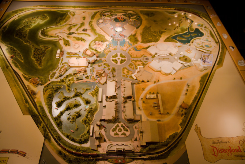 Early Map of Disneyland