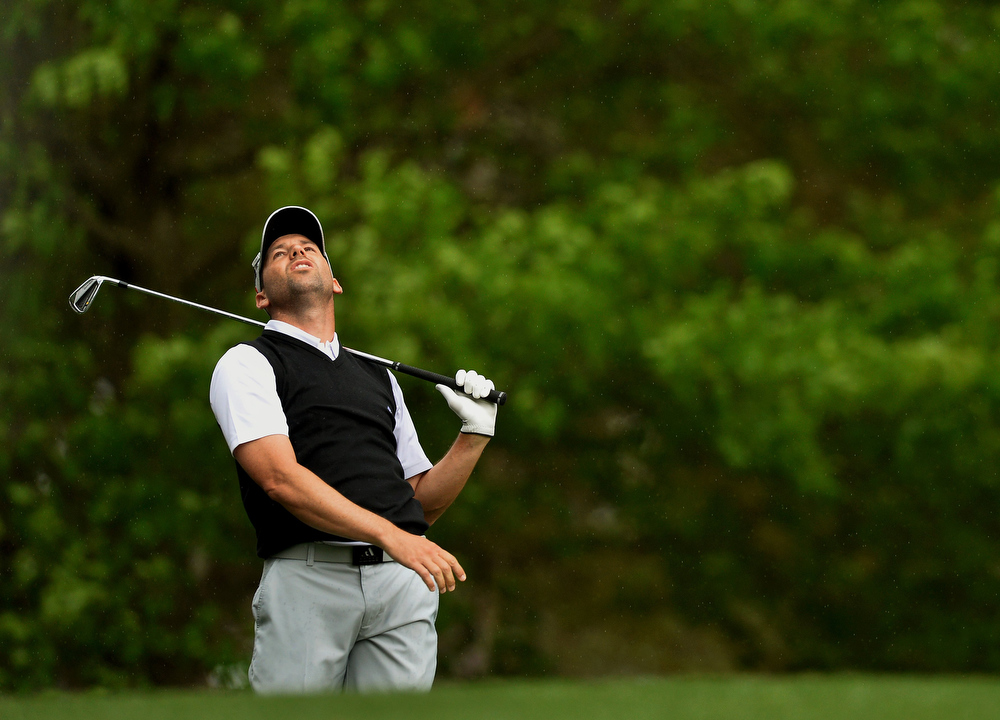 Description of . Sergio Garcia of Spain plays during the second round of the 77th Masters golf tournament at Augusta National Golf Club on April 12, 2013 in Augusta, Georgia.  JEWEL SAMAD/AFP/Getty Images