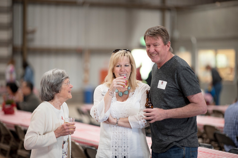 Guests enjoy the Alumni Spring Barbecue that is held at the University Farm on Thursday, April 27, 2017, in Chico, Calif.  (Jessica Bartlett/ Photographer)