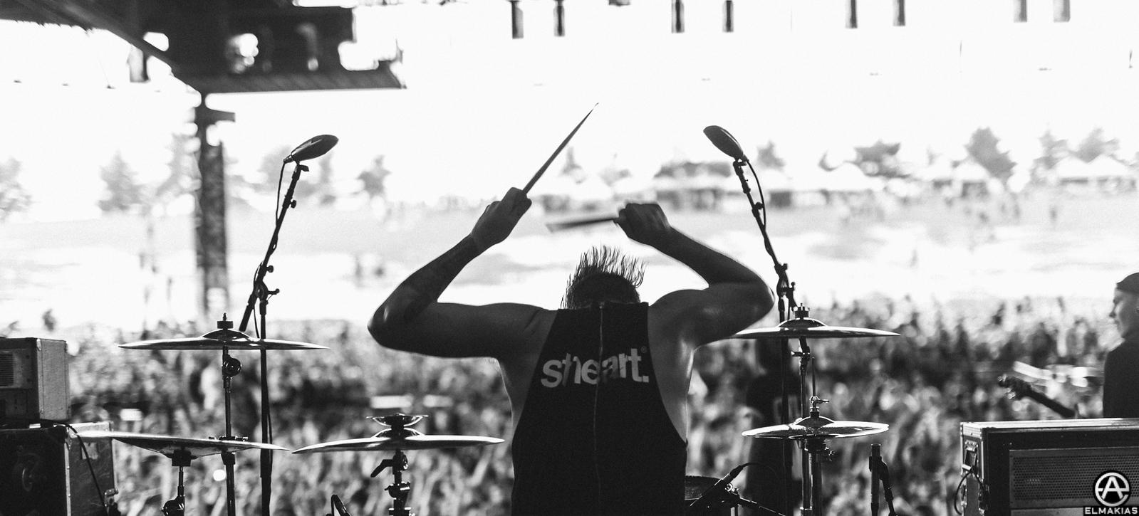 Justin Nace of PVRIS at Vans Warped Tour 2015 by Adam Elmakias