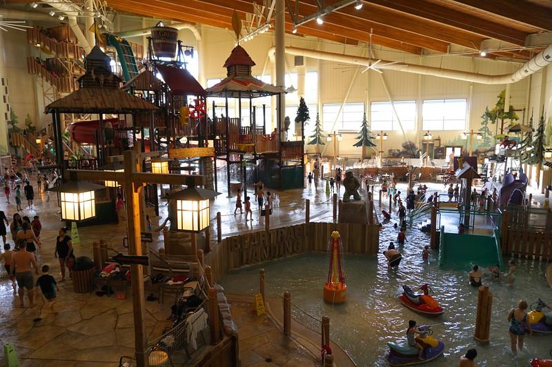 The indoor water park!