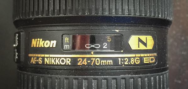 Infinity on a Nikon 24-70mm f/2.8 lens