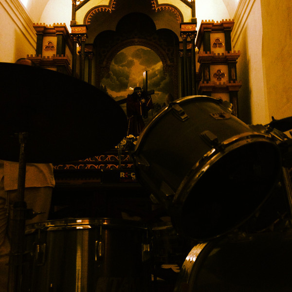 Drums at the church. and they were actually used during service!