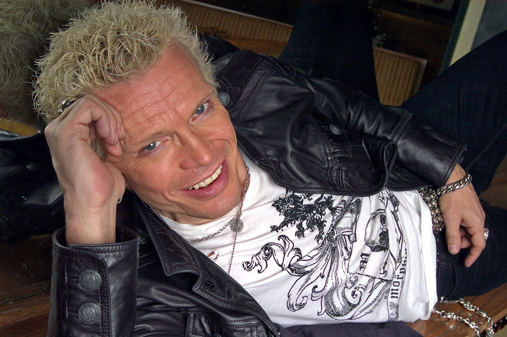 . Billy Idol is photographed at the W Hotel Union Square in New York, Jan.  28, 2005.  (AP Photo/Jim Cooper)