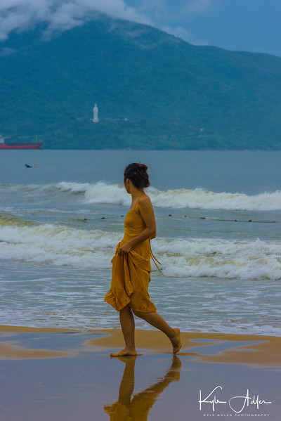 Near Danang, we visited My Khe Beach, better known in the US as China Beach.