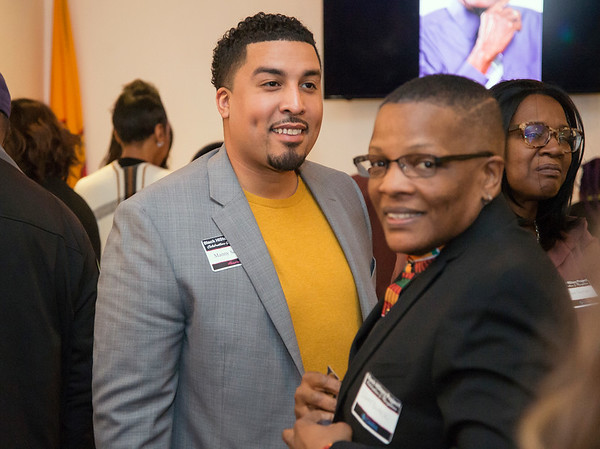 02/28/20 Wesley Bunnell | StaffrrTwenty five men were honored at Gallery 66 on Friday night for their involvement in the community as part of Black History Month. Honoree Manny Sanchez, L,