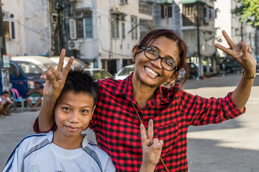 Independence Day Myanmar Peace Signs