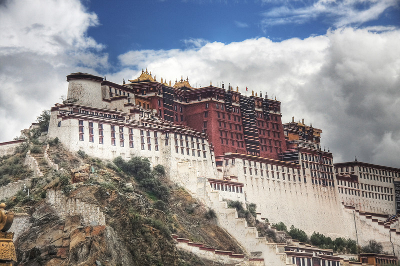 The Potala Palace, Lhasa: The former home of the Dalai Lama. (HDR Image)