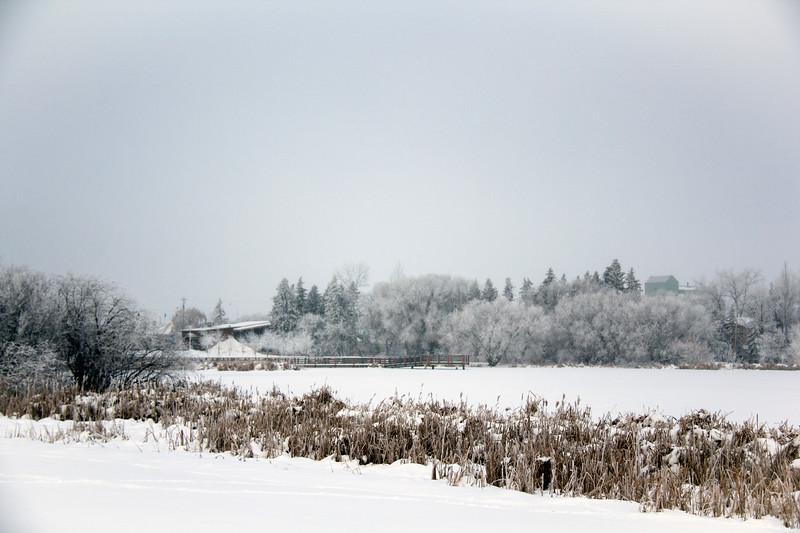 Telford Lake in Winter