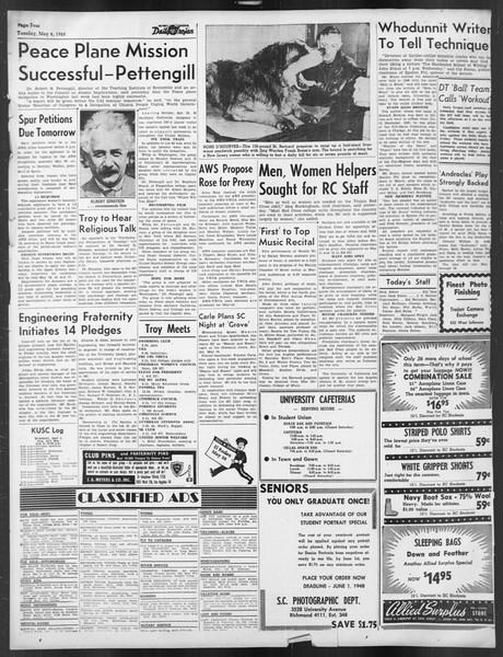 Daily Trojan, Vol. 39, No. 132, May 04, 1948