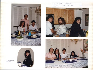 11-26-1988 Al Nishi & Vicki Thomas wedding dinner