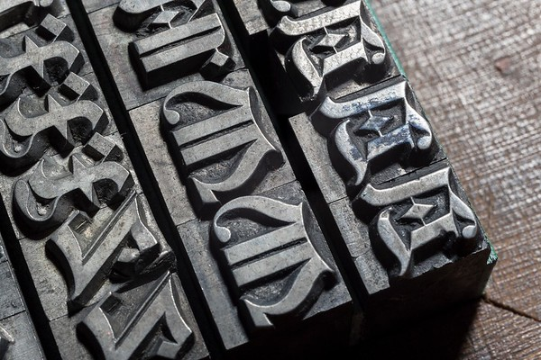 Gothic typefaces - Caratteri gotici