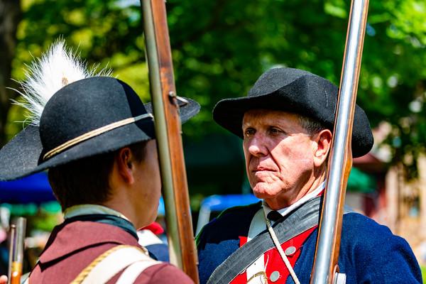 Revolutionary War Reenactment at the  Moland  House