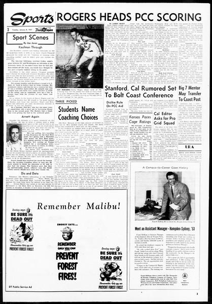Daily Trojan, Vol. 48, No. 65, January 08, 1957