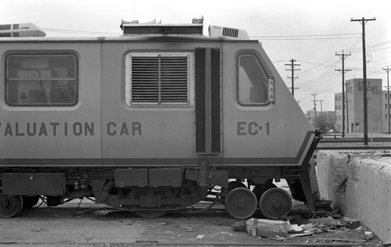 UP Track Geometry Car EC-3. April 23, 1983.  (Don Strack Photo)