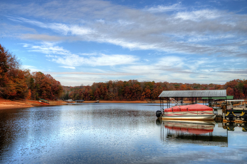 Lake Hartwell near Gumlog, Georgia