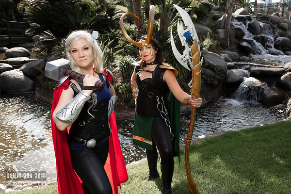 Thor and Loki by Megan and Danielle