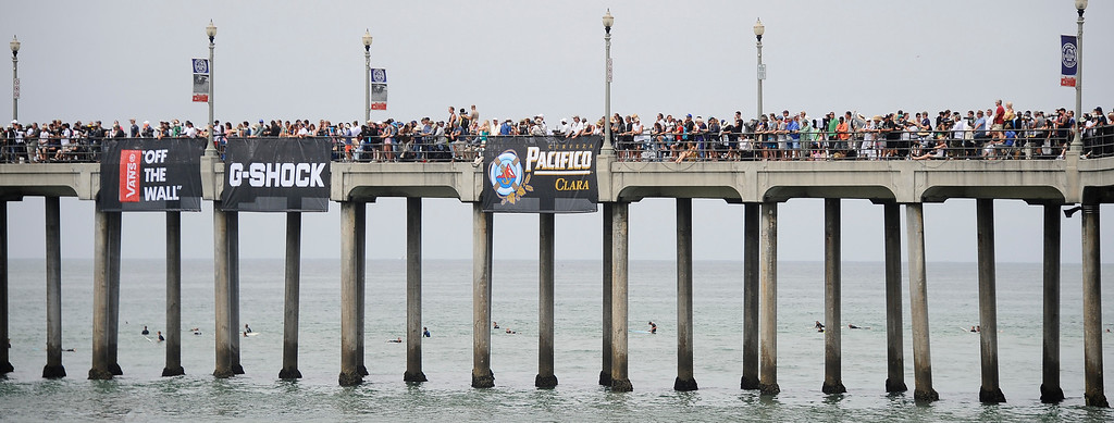 . Hundreds of thousands of surf fans jammed the beach of standing room only during the 2013 Vans US Open of Surfing Sunday at Huntington Beach CA. July 27,2013. Photo by Gene Blevins/LA DailyNews
