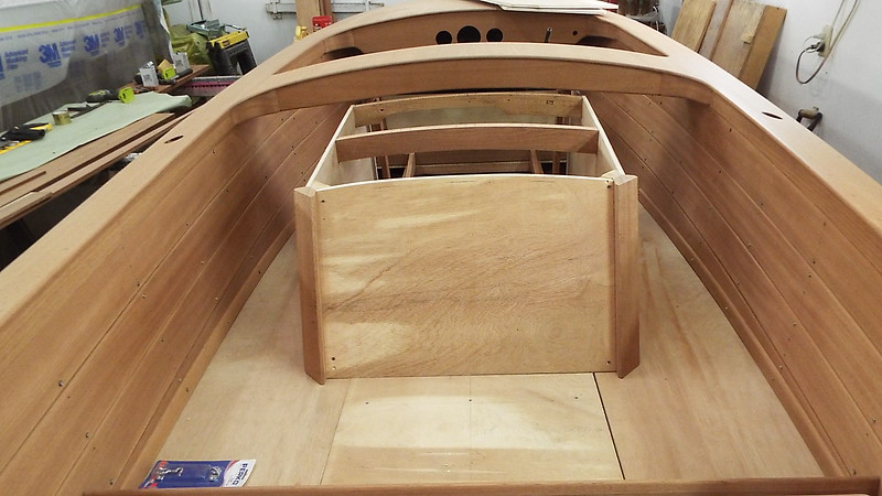 Starting to fit the new box in the boat