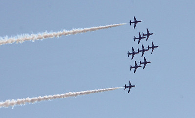 Aircraft including Red Arrows